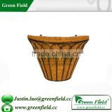 Green Field Half Round Wire Wall Baskets with Coco Liners