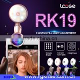 RGKNSE 0.36x wide angle lens+50x Macro lens+185 Degree fisheye lens for Mobile phone Beauty Selfie Flash Light