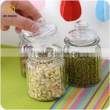 High quality clear glass jar kitchen storage jars for tea coffee suger bottle tea holder glass storage bottles with lid
