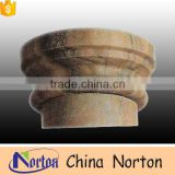 stone carving round antique home ornaments column caps NTMF-CP023Y