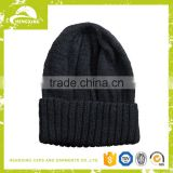 Good quality custom applique merino wool beanie/knitted beanies for sale/fold up beanie hats