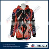 Customized comfortble crewneck polyester hoodies gym pullover full sublimation hoody active print men hooded sweatershirts