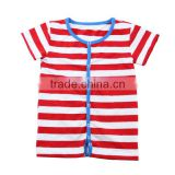Red and white striped T-shirt 2017 Summer black and baby boutique tank top for kids