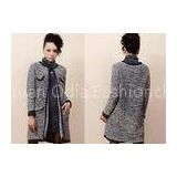 Winter Mohair Womens Chunky Sweaters with Crew Neck and Long Sleeve Cardigan