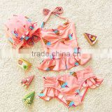 New Design Baby Girls Adorable Cartoon Swimsuit Boutique Kids Two Piece Swimsuit