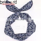 Fashional Women's Yoga Hair Wrap Paisley Twisted Bandana Print Headband