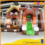2015 AOQI new design fantastic stone age inflatable combo AQ01414 for kids