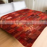Indian Handmade Vintage Indian Green Silk Sari patchwork Handmade Kantha Quilt Bedspread- KING