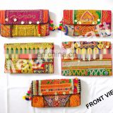 Wholesale Vintage Handmade coin Purse-Indian Vintage Wedding Purse -Vintage Banjara Gypsy clutch -Indian Embroidered Clutch Bag