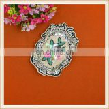 New design 3D embroidery patch with sew on sequin rhinestone flower decoration for clothing/jeans