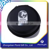 Round hard shell waterproof storage eva earphone case with custom logo