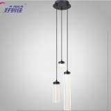 transparent cylindrical decorative led droplight Contracted style pendant lamp