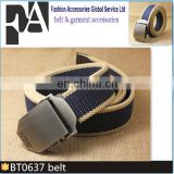 BT0637 Hot-Selling Muti-Color Strip Fabric Sport Canvas Webbing Cotton Cloth Belt