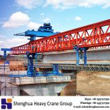 China HSHCL concrete t beam erect interchange bridge truss type beam launcher equipment