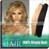 Color 613 100% Straight Remy Human Hair Drawstring Ponytails