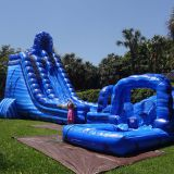 Inflatable slip and slide inflatable water slide axs-08