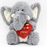 valentine's day smart elephant with heart plush stuff toys