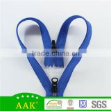 3# nylon Fashion zipper double ended nylon zipper with head to head sliders