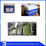 Toughness plastic rotational mould for blood transport cooler box