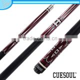 CUESOUL 1/2 Jointed Fashionable Pool Cue, Maple Shaft, Quick Release Stainless Steel Center Joint, ,Rubber Wrap
