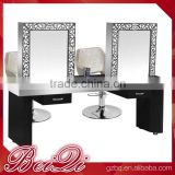 Luxury Hair Barber Salon Station Equipment Professional Double Salon Mirror Hair Dressing Mirror