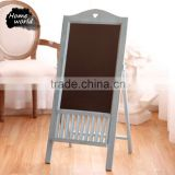 One-Side Free Standing Bar Wooden Blackboard Stand for Warming