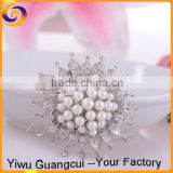 New design zinc alloy pearl muslim brooch hijab scarf pins