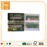 12 ml 18 colors oil paint tubes, acrylic paint sets for children