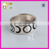 wholesale price silver jewelry moon design band ring thai silver ring