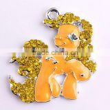 Wow!! Wholesale silver Alloy Zinc Animal Rhinestone Large Fashion Charm Pendants For Kids Jewelry Making!!