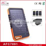 wholesale outdoor waterproof 4000mah usb 5v portable solar charger power bank for iphone 6