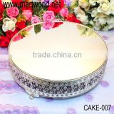 Round metal cake stand surrounded with crystals for wedding decoraton& home &party(cake-007)