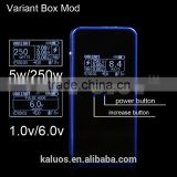 Kaluos design box mod HB mini HB40 VT250 box mod with original newest dna 40 chip by Evolv