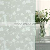 PVC frosted indoor grape vine design decoration adhesive glass window film