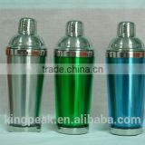 Customed Stainless steel Cocktail Shaker cup /Bar Shaker bottle/Plastic Shaker bottle