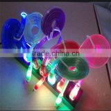 led colorful micro usb cable plastic led usb cable lighting data                                                                         Quality Choice
