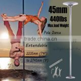Dance Pole Kit 45mm Portable Dancing Fitness Stripper Exercise Spinning