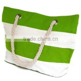 2015 best selling canvas rope handle beach bag                                                                         Quality Choice