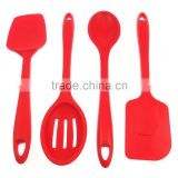 Anti-Slip Silicone Handle Kitchen Utensils Silicone, Set of 4 Silicone Spatulas for online store