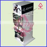 Four Way Cardboard Spinner Display Racks With Hooks Countertops Displays Cardboard Socks Displays CDU Carton Displays