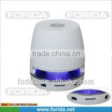 Zinc Alloy patented design support FM and TF card white color mini bluetooth speaker with fm radio