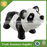 Cute and Colorful Resin Panda Animal Shaped Coin Banks