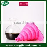 Silicone funnel drain collapsible funnel oil funnel