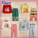 Popular funny children christmas pyjamas fabric for cotton kids pajamas wholesale