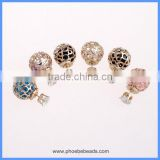 Wholesale New Arrival Hot Beautiful Fancy Double side Hollow Ball Crystal Fake Diamond Stud Earrings CTBE16-CZ05
