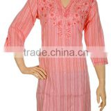 Latest Beach Wear Tunics Designs Long Cotton Cover up