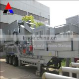 Portable Crushing Plant/Portable Jaw Crushing Plant/Efficient,reliable and convenient moving tire mobile crusher station