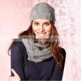 Wholesale Top Quality Arcylic Fabric Custom Knitting Hat/Knitted scarf and Hat/Beanie Hat