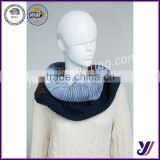 Wholesale women winter knitted infinity loop scarf neck warmer infinity knit pashmina scarf (accept the design draft)