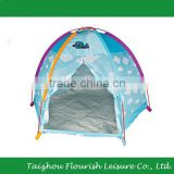 Kids Play Dome Tent With Blue Sky And White Clouds Printing